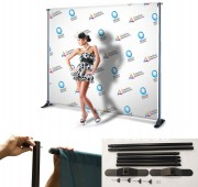 13 OZ. Vinyl with Telescopic Backdrop Banner Stand
